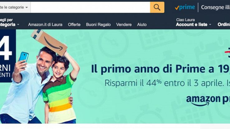 Amazon raddoppia costo 'Prime' in Italia
