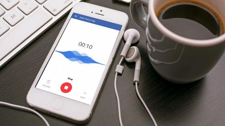 Facebook, le clip audio per aggiornare il proprio stato