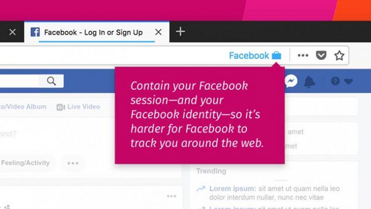 Come Firefox blocca il tracciamento dei dati da parte di Facebook