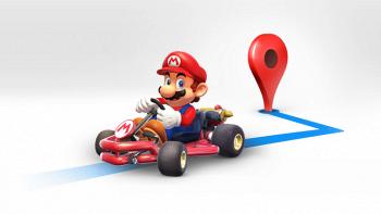 Mario Kart in Google Maps