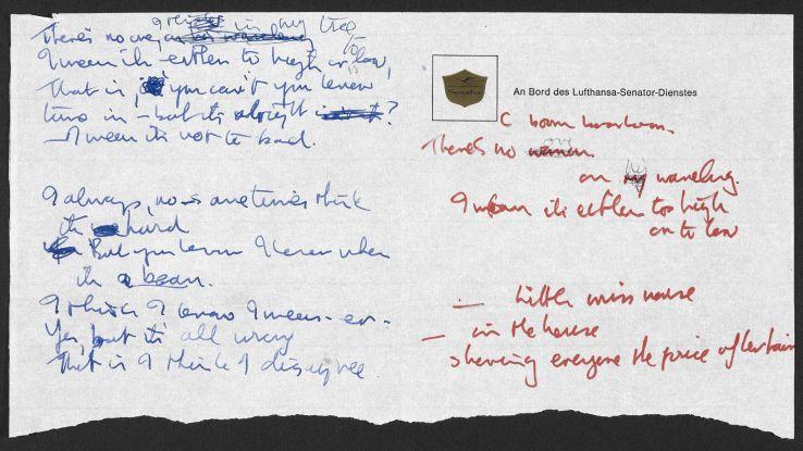 Scaricabile la grafia di Bowie e Lennon