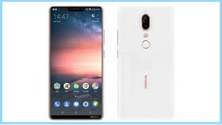 Render basato sui rumor Nokia 6X