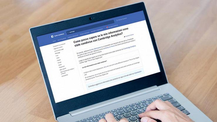 Lo strumento di Facebook per scoprire se il proprio account è finito nelle mani di Cambridge Analytica