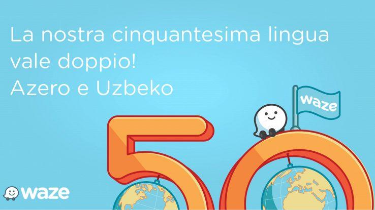 L'app Waze ora parla 50 lingue