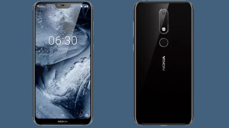 Primo piano fronte e retro del nuovo smartphone Nokia X6