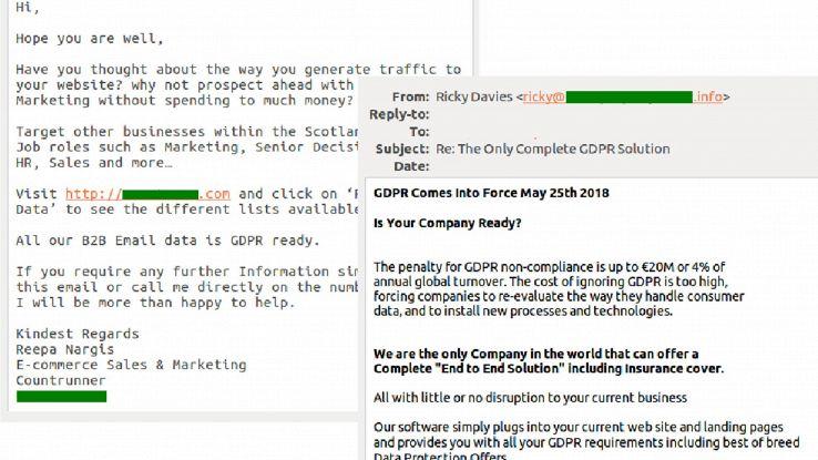 Spam legato a Gdpr, rischio phishing