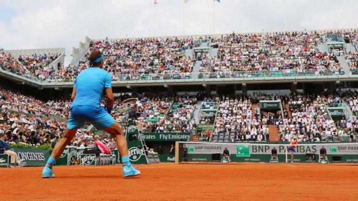 Nadal impegnato nel Roland Garros