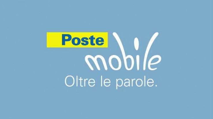 Primo piano del logo di Poste Mobile