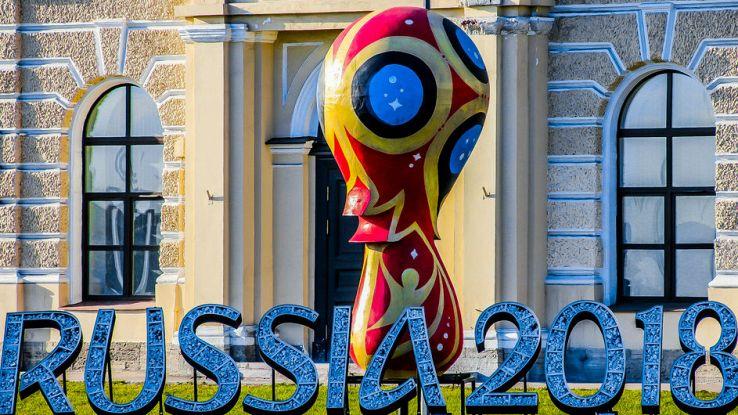 Lo stemma dei Mondiali di calcio in Russia 2018