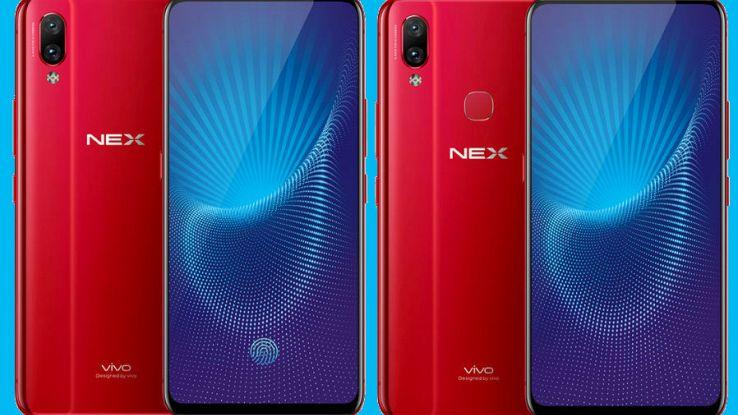 Primo piano dei due nuovi smartphone Vivo Nex e Vivo Nex S