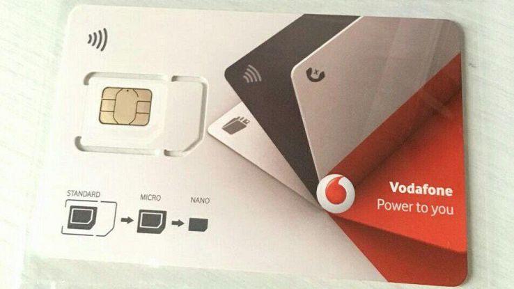 una sim della Vodafone