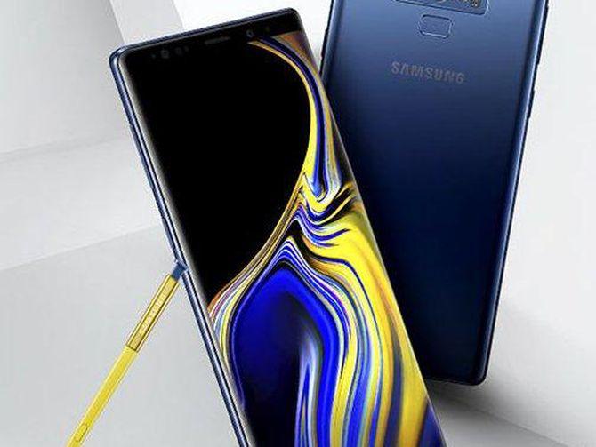 Un'immagine del nuovo phablet Samsung