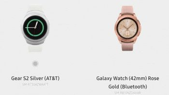 Il Galaxy Watch così come è comparso sul sito Samsung
