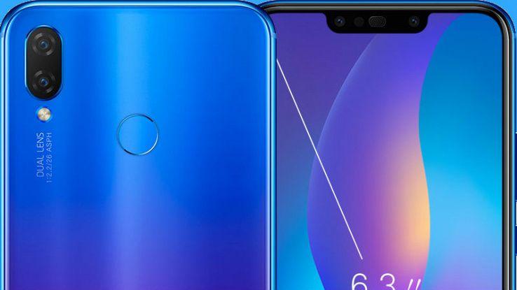 Immagine ravvicinata fronte e retro del nuovo Huawei P Smart Plus