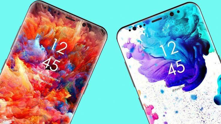 Un rendering del nuovo smartphone Galaxy S10
