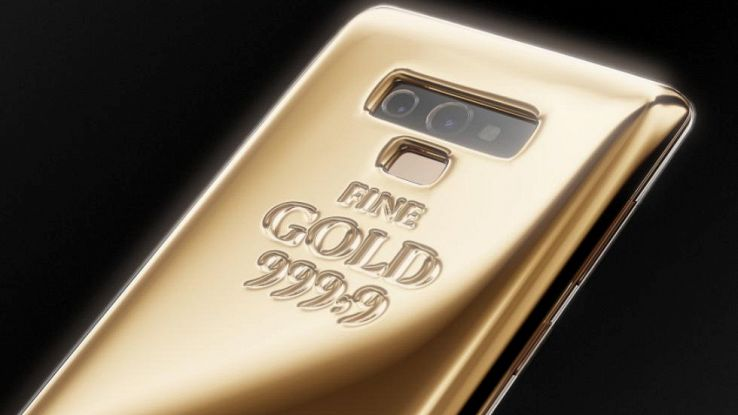 caviar note 9 smartphone in oro