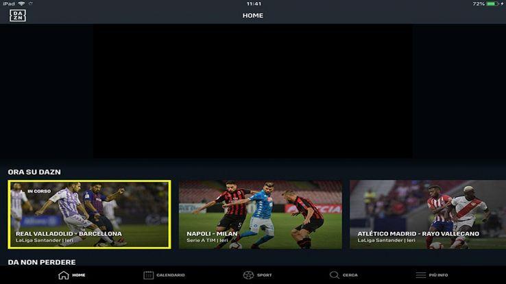 dazn piattaforma streaming calcio
