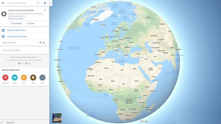 La Terra è tonda, lo dice Google Maps