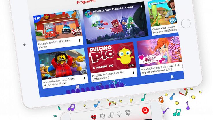Arriva in Italia YouTube Kids
