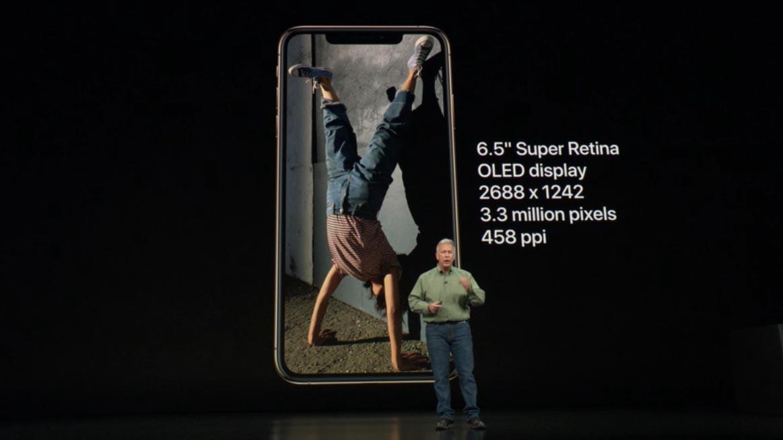 iPhone Xs Max con schermo OLED da 6,5 pollici e 3 milioni di pixel