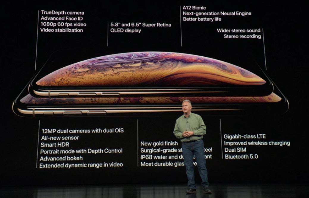 Caratteristiche complete dell'iPhone Xs e iPhone Xs Max