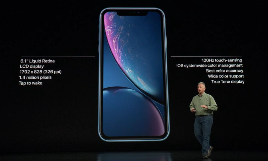 Il display dell'iPhone Xr