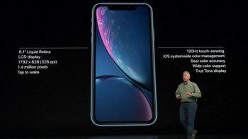 Il display dell'iPhone Xr