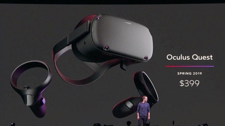Mark Zuckerberg presenta il nuovo visore VR per i videogame
