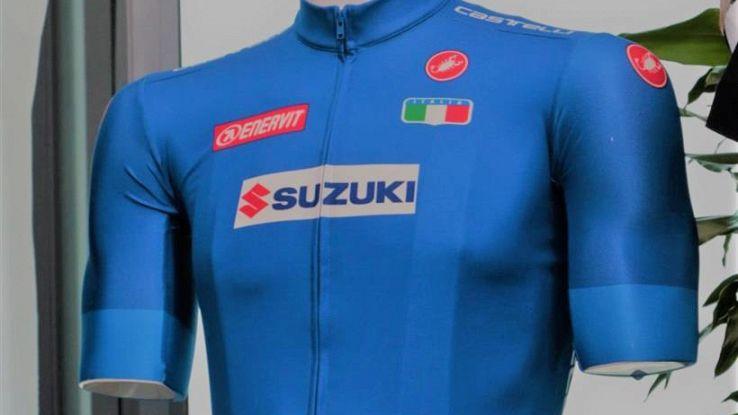 La maglia azzurra dei mondiali di ciclismo 2018