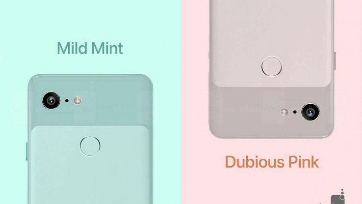 Google, Pixel 3 anche rosa e verde menta
