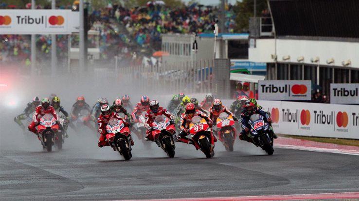 La partenza del GP San Marino 2017 di MotoGP