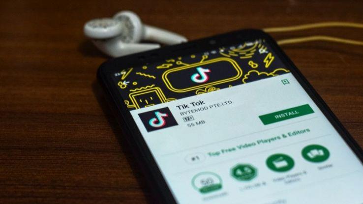 un'immagine della pagina di TikTok su Google Play Store