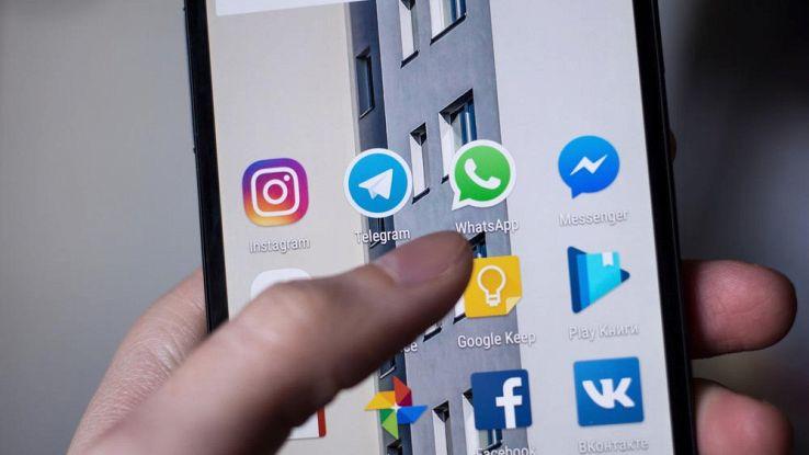 Icone di WhatsApp e Telegram