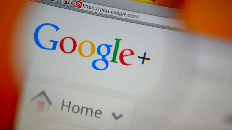 Google Plus, logo su un computer