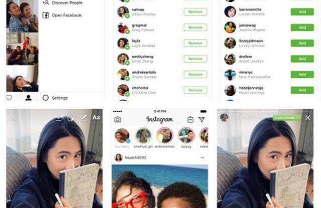 Instagram, Storie per amici più stretti