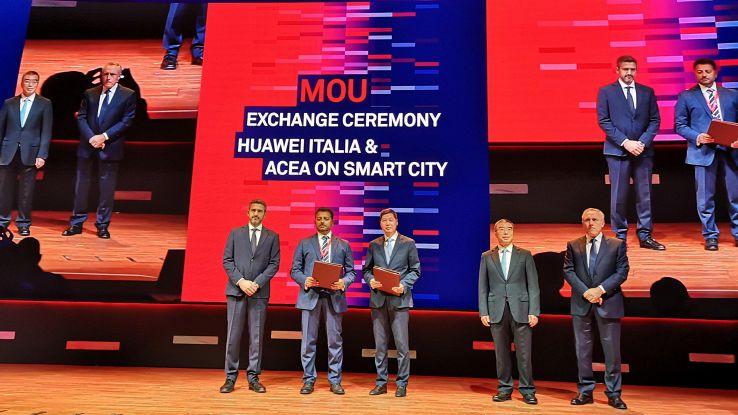 Acea-Huawei,telecamere smart al Colosseo