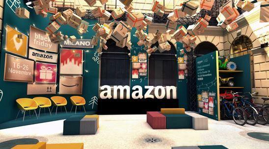 Apre a Milano il pop up store di Amazon
