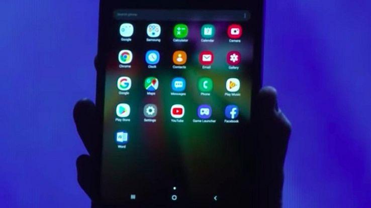 Samsung svela lo smartphone pieghevole