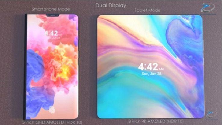 Nuovo smartphone pieghevole di Huawei