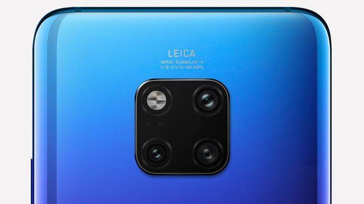 La fotocamera posteriore del Mate 20 Pro