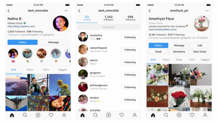 Il nuovo profilo su Instagram