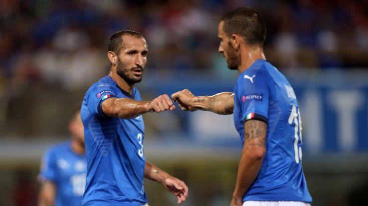 bonucci e chiellini nazionale italiana calcio