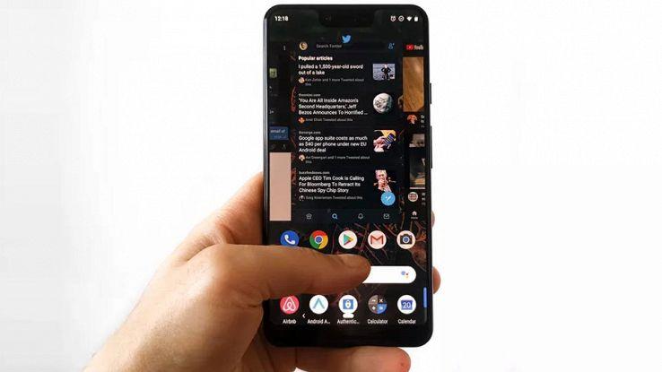 Pixel 3 con modalità scura