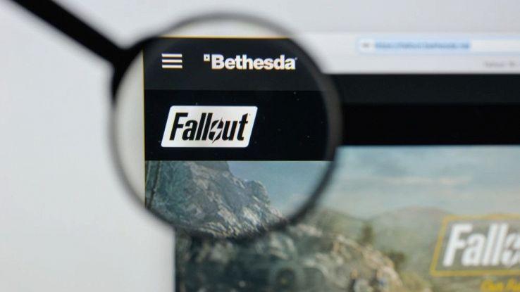 Primo piano dell'icona del videogame Fallout