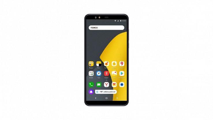 Un'immagine del nuovo Yandex Phone