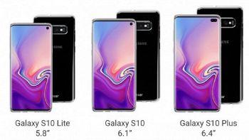 i tre nuovi modelli di Samsung galaxy S10