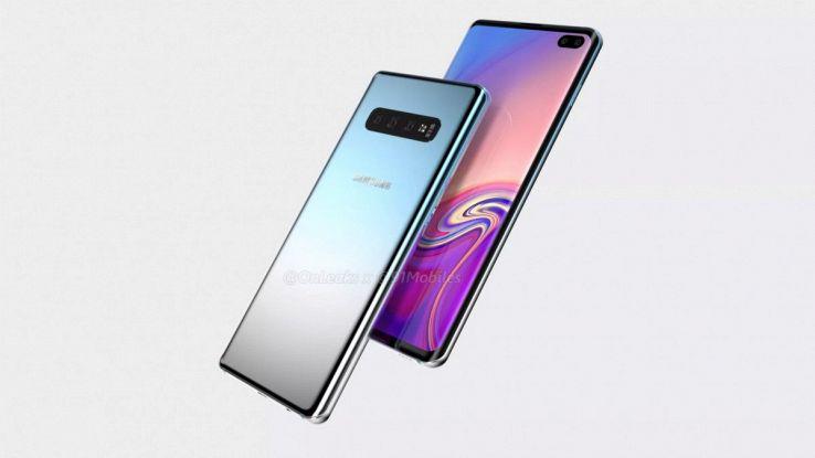 Un rendering del nuovo smartphone Samsung
