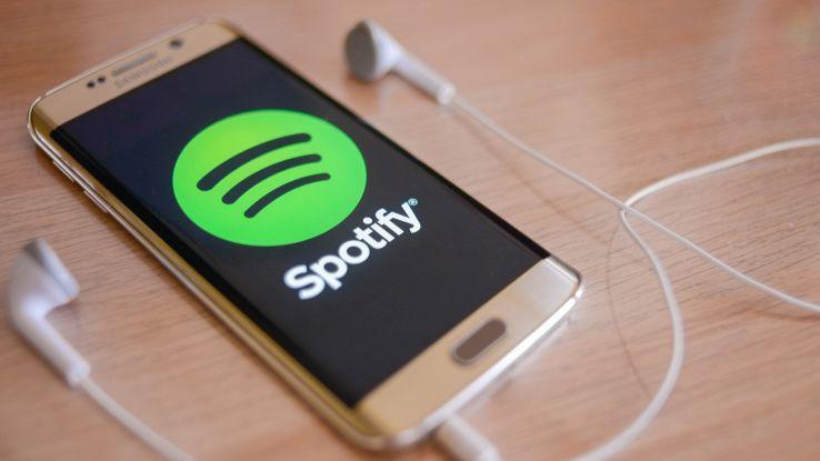 L'app Spotify su un telefono Android