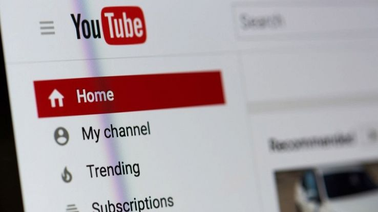 L'home page del sito web di YouTube