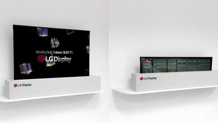 Il TV che si arrotola di LG
